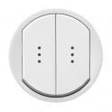 Лицевая панель с подсветкой 2 клавиши Celiane - белый