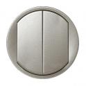 Лицевая панель выключатель 2 клавиши Celiane - титан