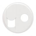Лицевая панель для RJ45 + ТВ Celiane - белый