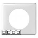 Рамка 4 поста - Celiane - белый глянец