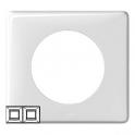 Рамка 2 поста - Celiane - белый глянец
