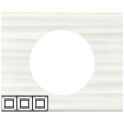 Рамка 3 поста - Celiane - белый рельеф