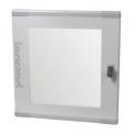 Дверь остекленная плоская для XL³ 160/400 - для шкафа высотой 600/695 мм