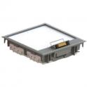 Напольная коробка - JSL Electro - 8 постов 16 модулей - серый