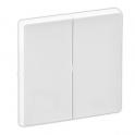 Лицевая панель для 2-клавишных выключателей/переключателей и кнопок - Valena Life - белый