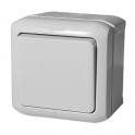Выключатель одноклавишный IP44 Quteo серый