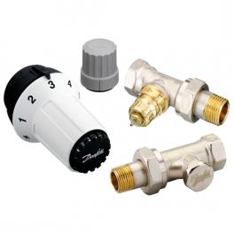 Комплект терморегуляторов - RA-FN, RAS-C, RLV-S - прямой
