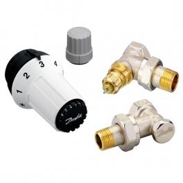 Комплект терморегуляторов - RA-FN, RAS-C, RLV-S - угловой