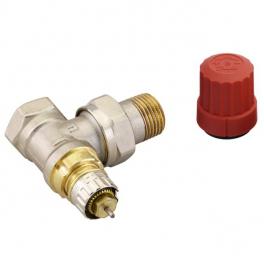 Термоклапан угловой с настройкой - RA-N 15, RP 1/2''