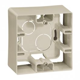 Коробка накладног монтажа - 1 пост - Niloe/Etika - слоновая кость