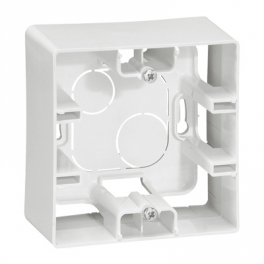 Коробка накладного монтажа - 1 пост - Niloe/Etika - белый