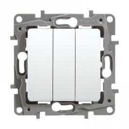 Выключатель трехклавишный - Niloe/Etika - белый