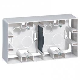 Коробка накладного монтажа - 2 поста - Niloe/Etika - белый