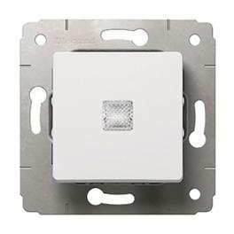 Выключатель с подсветкой - Cariva - белый
