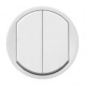 Лицевая панель двойного выключателя Celiane - белый