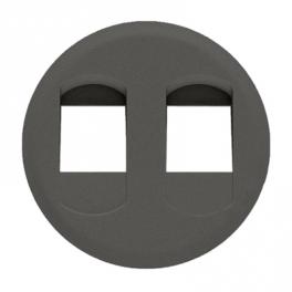 Лицевая панель для двойной акустической розетки - Celiane - графит