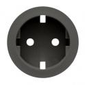 Лицевая панель для розетки 2К+З Celiane - графит