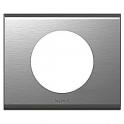 Рамка 1 пост Celiane - фактурная сталь