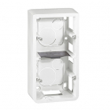 Накладная монтажная коробка 2x2 модуля - Mosaic - белый
