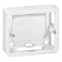 Накладная монтажная коробка 3 модуля Mosaic- белый