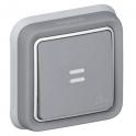 Выключатель одноклавишный IP55 - Plexo - серый