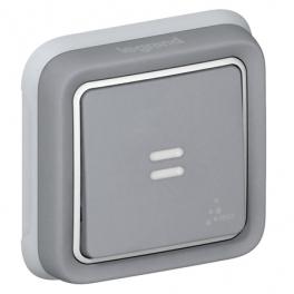 Одноклавишный выключатель  IP55 - Plexo - серый