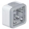 Коробка для накладного монтажа Plexo - серый 1 пост