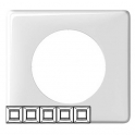 Рамка 5 постов - Celiane - белый глянец