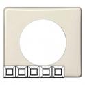 Рамка 5 постов - Celiane - слоновая кость глянец