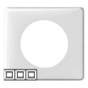 Рамка 3 поста - Celiane - белый глянец