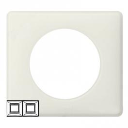 Рамка 2 поста - Celiane - белая перкаль