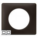 Рамка 2 поста - Celiane - черная перкаль