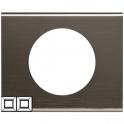 Рамка 2 поста - Celiane - черный никель