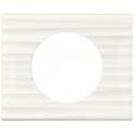 Рамка 1 пост - Celiane - белый рельеф