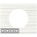 Рамка 4 поста - Celiane - белый рельеф