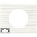 Рамка 2 поста - Celiane - белый рельеф