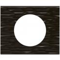 Рамка 1 пост - Celiane - черный рифленый
