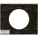 Рамка 2 поста - Celiane - черный рифленый