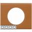 Рамка 4 поста - Celiane - кожа карамель