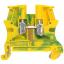Винтовая клемма 10х10 - Viking 3 - желто-зеленый