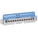 Клеммная колодка IP 2x75мм - нейтраль - синий