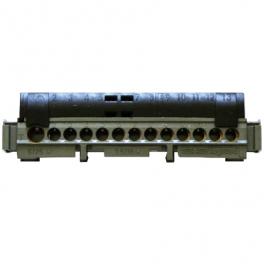 Клеммная колодка IP 2x141мм - фаза - черная