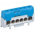 Клеммная колодка IP 2x62мм - нейтраль - синий