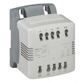Однофазный трансформатор безопасности - 230/400 - 24V 40ВA