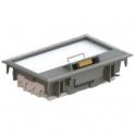 Напольная коробка - JSL Electro - 4 поста 8 модулей - серый