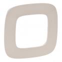 Рамка 1 пост - Valena Allure - тиснение бежевое