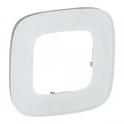 Рамка 1 пост - Valena Allure - белое стекло