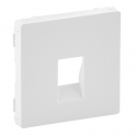 Лицевая панель для аудиорозетки с пружинными зажимами - Valena Life - белый