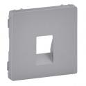 Лицевая панель для аудиорозетки с пружинными зажимами - Valena Life - алюминий