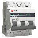 Автоматический выключатель - 3P C25А 4.5kA, ВА 47-63 EKF